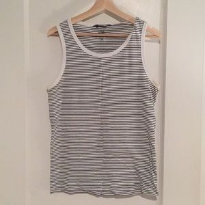 Striped tank top.